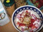 Five Minute Strawberry Rhubarb Oatmeal