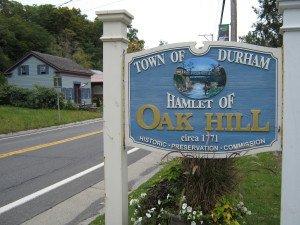 Oak Hill in Greene County, location of egg's Goatfell Farm Label