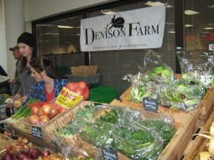 Denison Farm's richly green spinach at the Troy Farmers Market