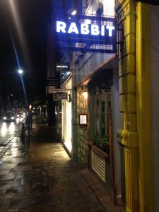 Rabbit on King's Road in London's Chelsea neighborhood