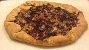 A cheesy, rustic looking galette made using a perfect dough recipe, worth using for other cooking needs