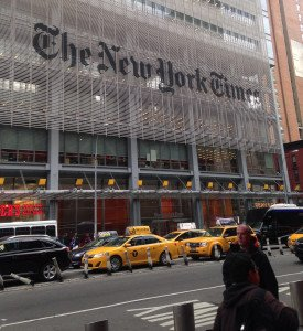 The NY Times started up TimesTalks in 1998; many held at The TimesCenter, an auditorium in its new Manhattan headquarters.