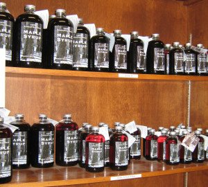 100% Pure & Natural Maple Syrup for sale in bottles at Sweet Brook Farm