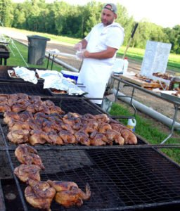 Sizzling split chickens from St. Croix Farm, a Rensselaer County farm whose 688 acres have been permanently protected