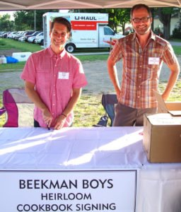 The Beekman Boys, Josh Kilmer-Purcell & Brent Ridge on hand to sign their Beekman 1802 Heirloom Cookbook