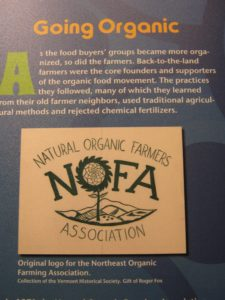 NOFA (Natural Organic Farmers Association) established in the 1970s in Vermont to share organic farming practices