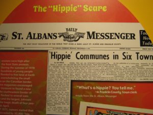 "Hippie Scare front page story in ""The Only Daily Newspaper in the World That Gives a Darn About St. Albans & Franklin Counties"