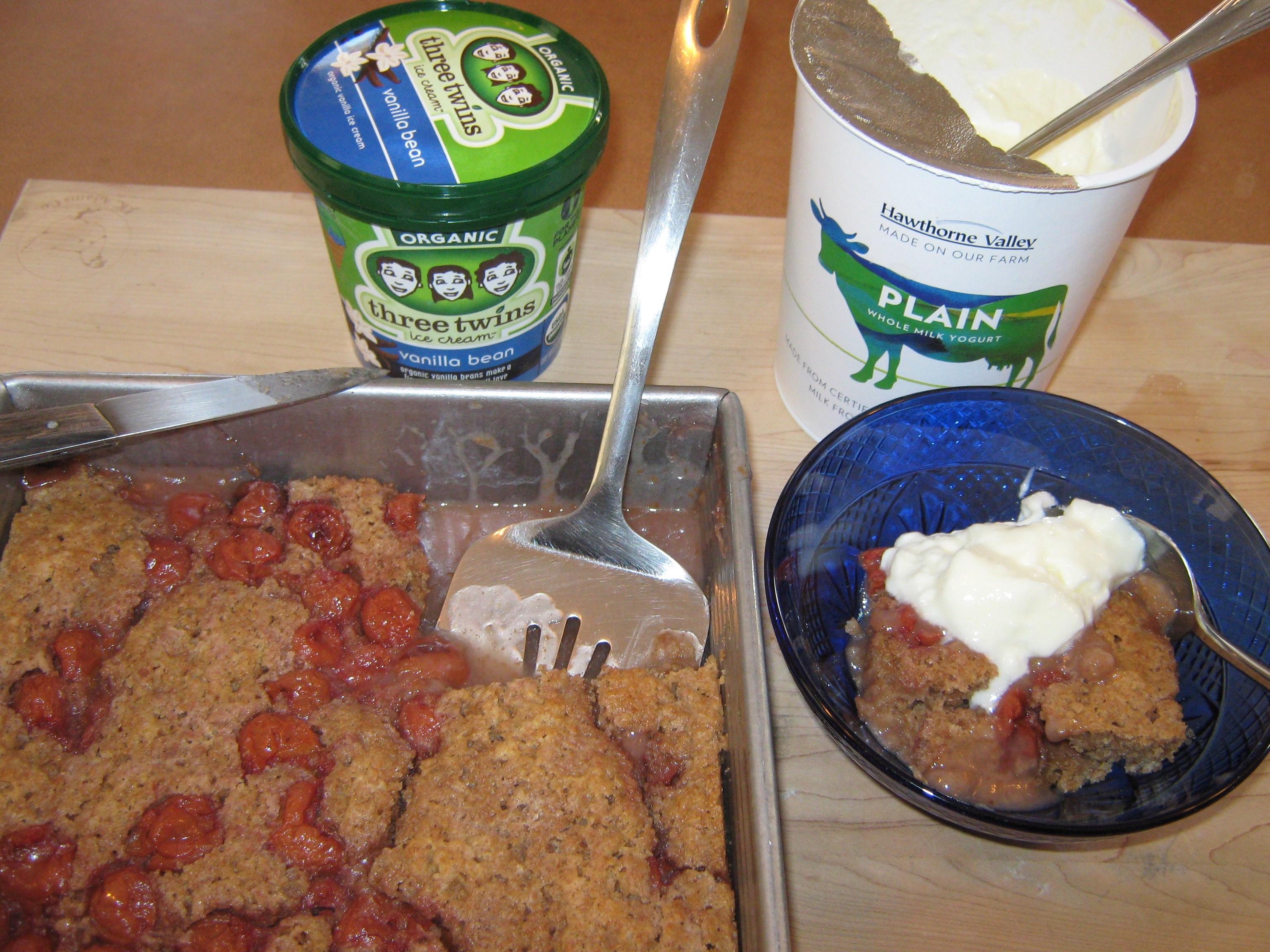 Organic Montmorency Cherry Cobbler: A Valentine's Day Dessert