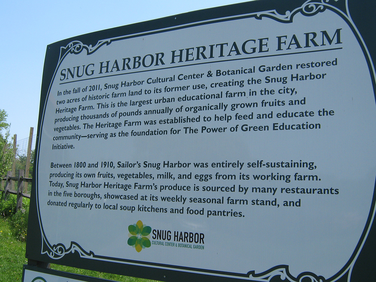 NYC Heritage Farm at Snug Harbor, Staten Island