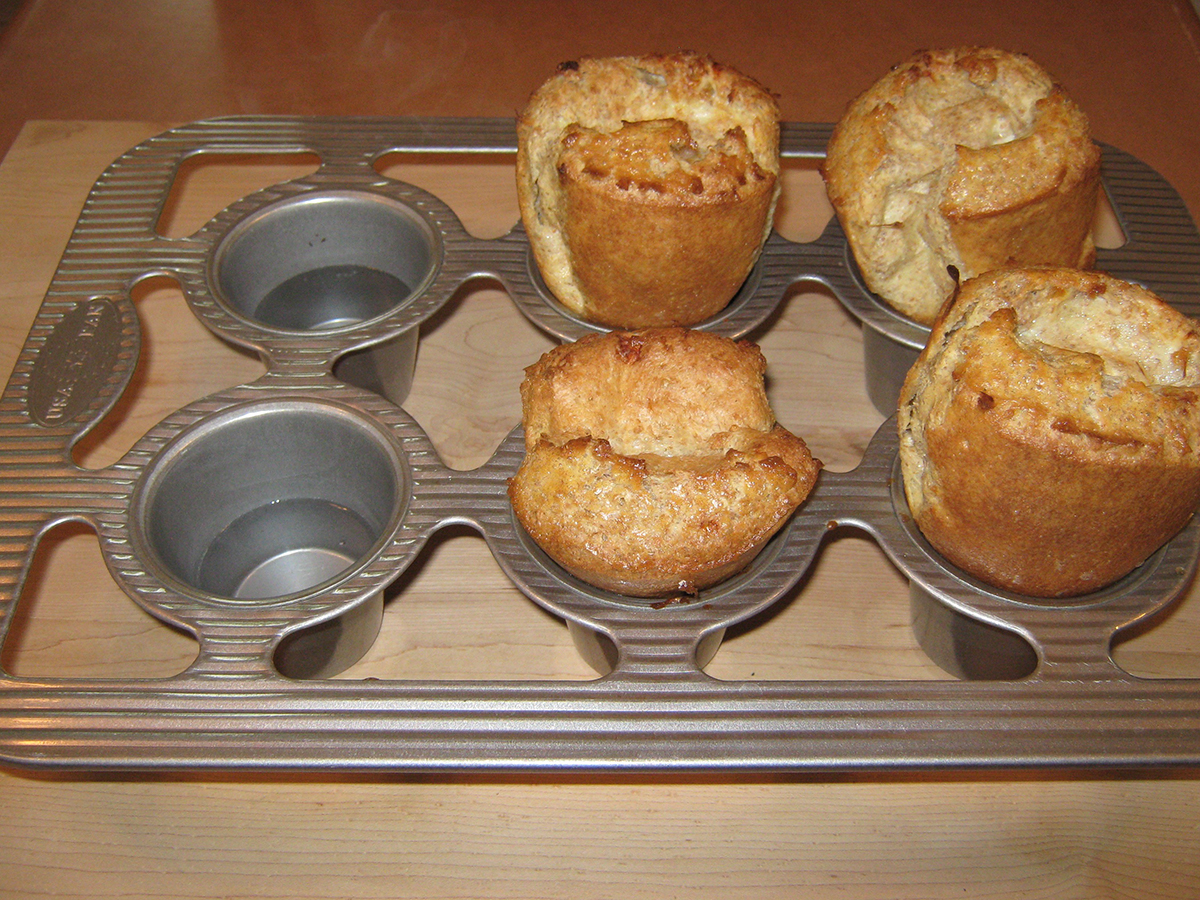 Mom's Popovers: Brought Back to Mind By A Maine Soup Kitchen's Awesome Community Building With Popovers Hot Out of the Oven